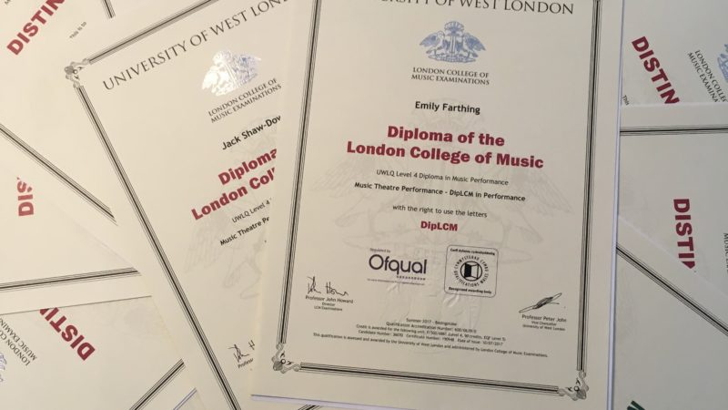 Outstanding Singing Exam Results