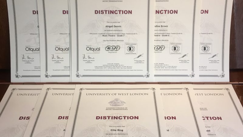Distinction Singing Exam Success!