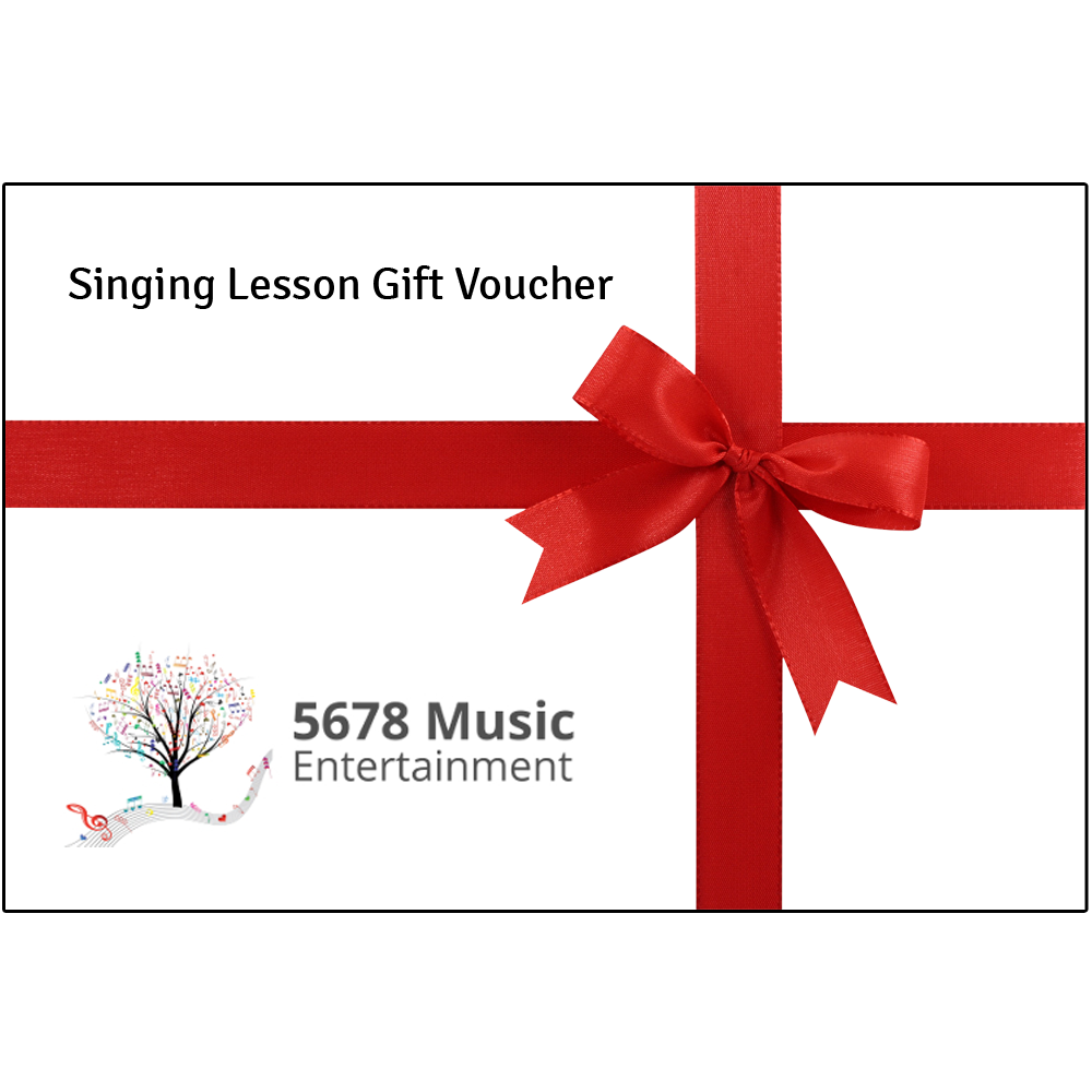 Singing Lesson Gift Vouchers